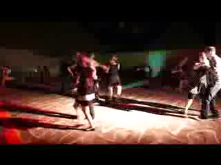 Ptuj, สโลวีเนีย: Swing dancers in kavarna Bodi
