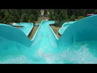 Columbia Falls, MT: Going down the waterslide