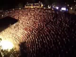 Spectacular drone view of Altos de Chavon amphitheater during Juan Luis Guerra latest concert.