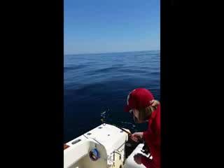 Fernandina Beach, FL: Sara's  First Catch Ever