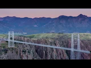 Canon City, CO: Sunset at the Royal Gorge Bridge