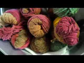 This highlights the whole process from fleece to fiber.  The video also shows some of our products