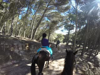 Horse riding near the Caminito del Rey El Chorro with Go Pro
