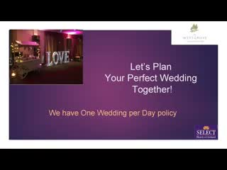 Westgrove Hotel and Conference Centre: Weddings at The Westgrove