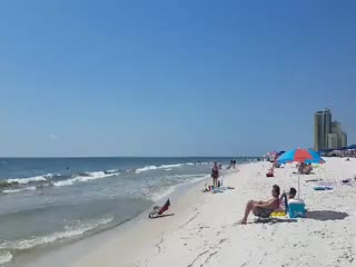 View from beach at Phoenix I in Orange Beach, Alabama