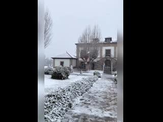 Nevando en Hotel Izán Puerta de Gredos (El Barco de Ávila)