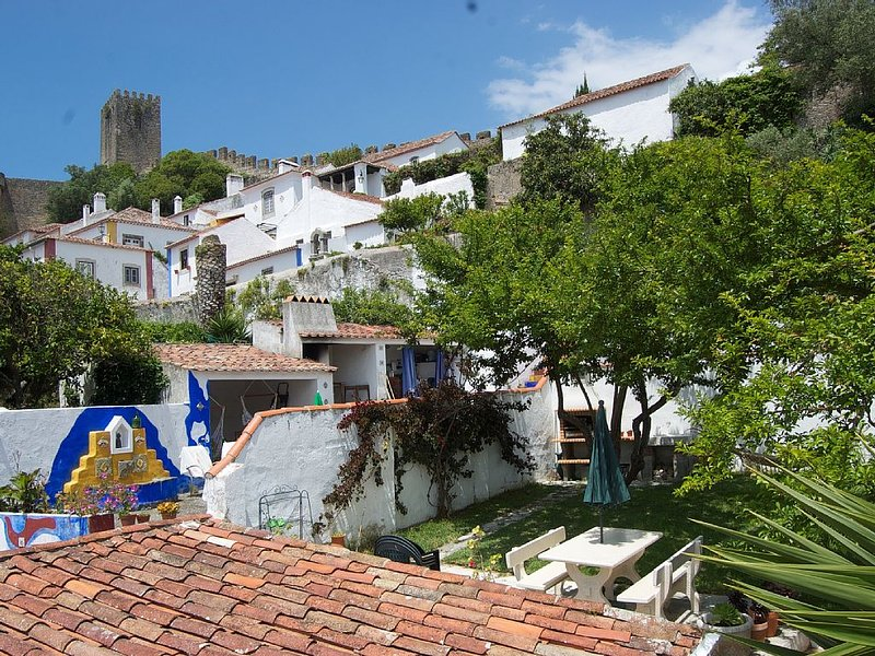Garden and its view over the castle and old town