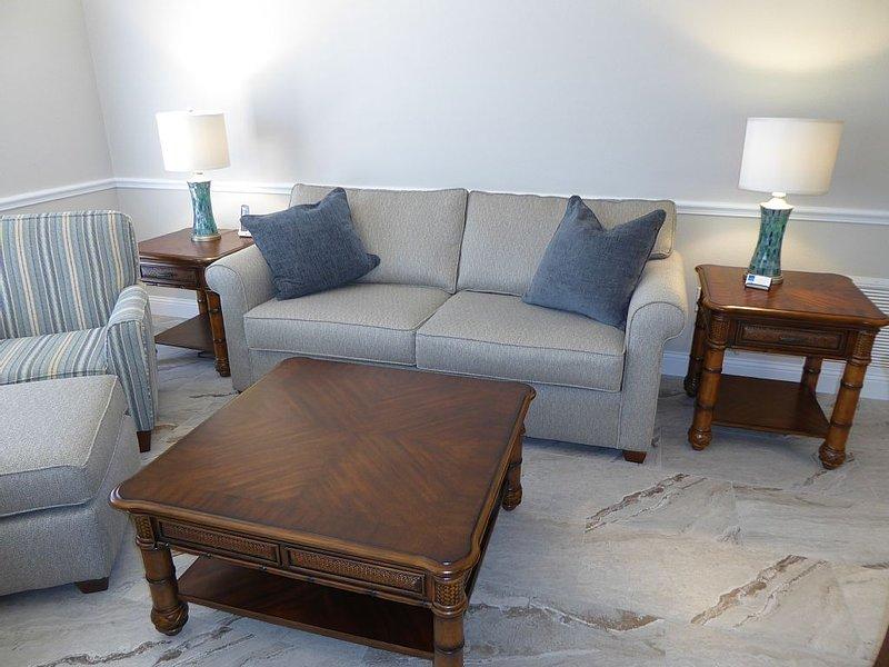 Living Room with Sleeper Sofa and Flat Scree TV