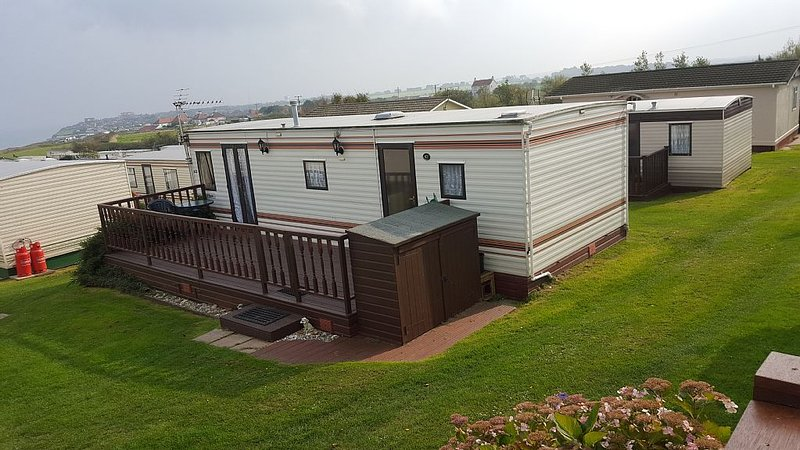Our Caravan with stunning Sea Views from lounge picture window