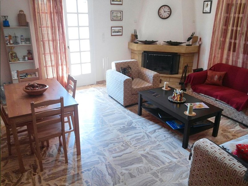 Cretan Sun -  Big apartment with garden by the sea!, holiday rental in Epano Gouves