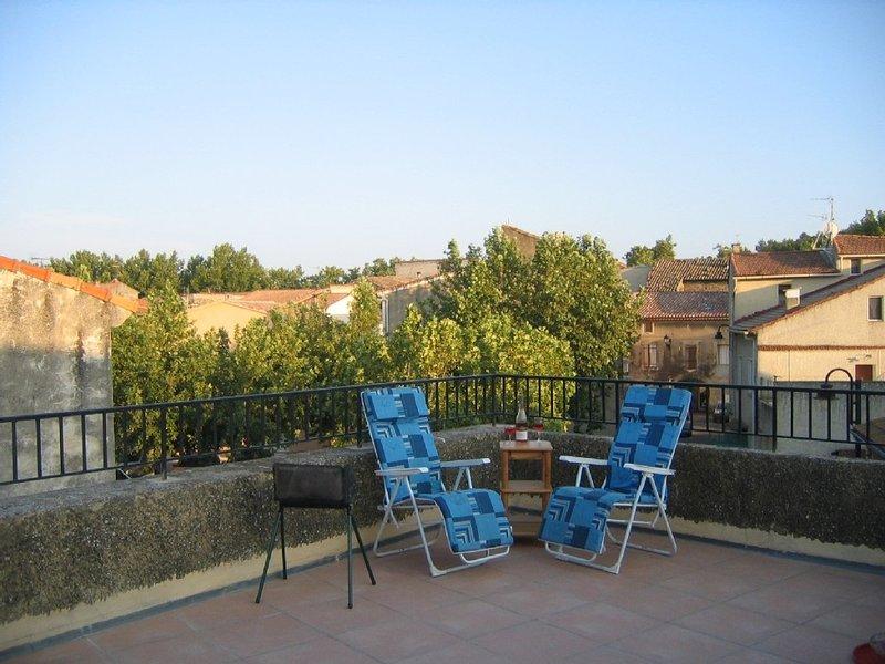 Peaceful village house with large roof top terrace in Provence, location de vacances à Châteauneuf-du-Pape