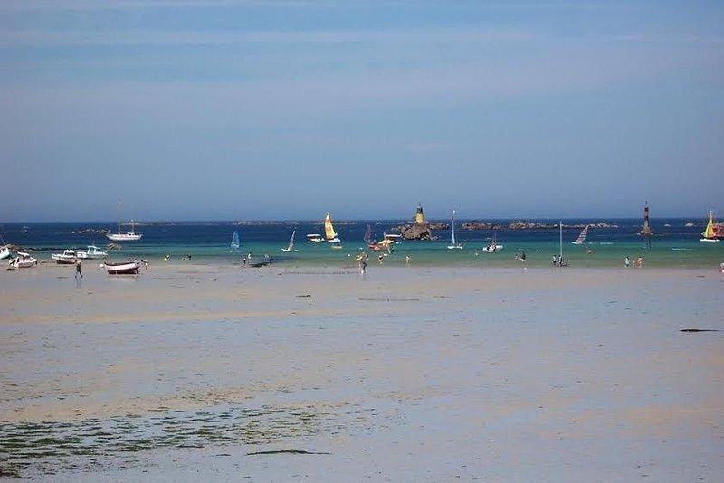 Maison de caractère, à 500 mètres des plages de sable fin, location de vacances à Landunvez