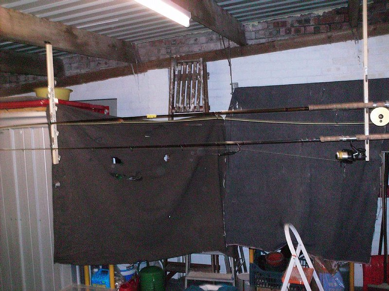 rod rack in garage