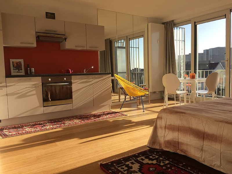 Historical centre, sunny terrace with panoramic view, holiday rental in Koekelberg