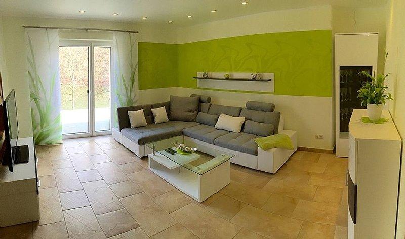 Neu! Haus am See - Fewo Seeperle - exkl. Ausstattung, 60m² Seeterrasse, Ferienwohnung in Sachsen-Anhalt