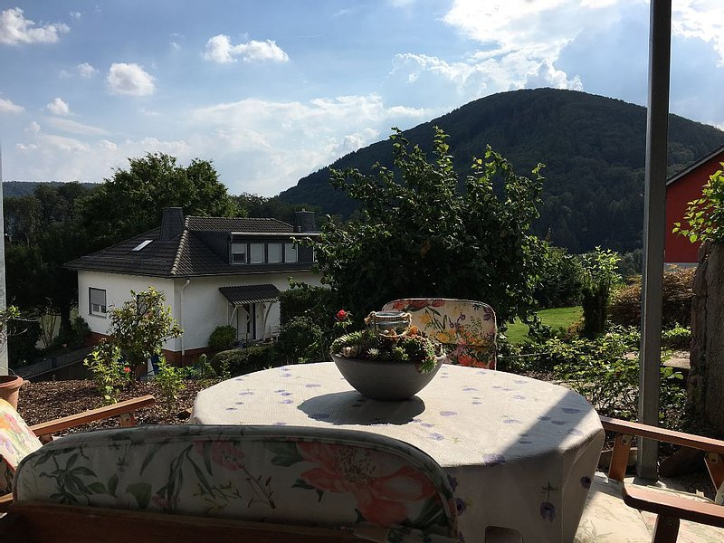 Three castles view in high Fe-Wo with covered terrace and castle view, holiday rental in Sinsheim