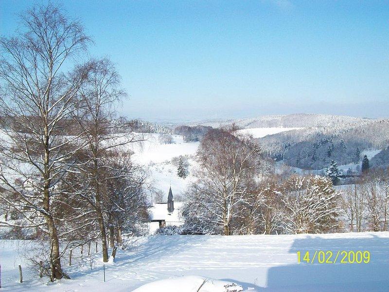 Winterimpressionen / Ausblick von FeWo / Terasse