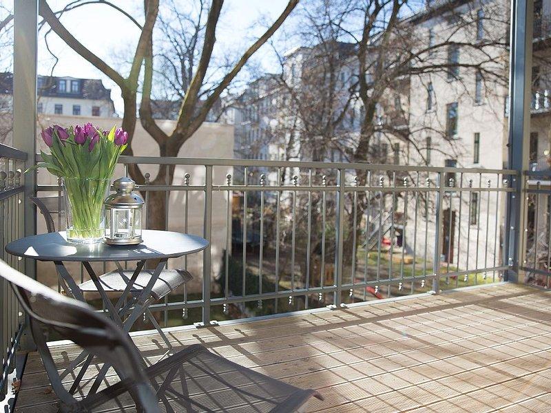 sonniger und ruhiger Balkon  #Studio44 #Apartment #Leipzig #Harmony