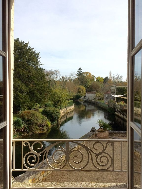 Uitzicht op het gebied doorkruist door de Charente