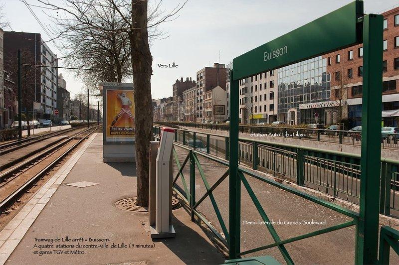 Station du Tram 'Buisson' vers Lille et Gares TGV en 4 minutes et 4 stations