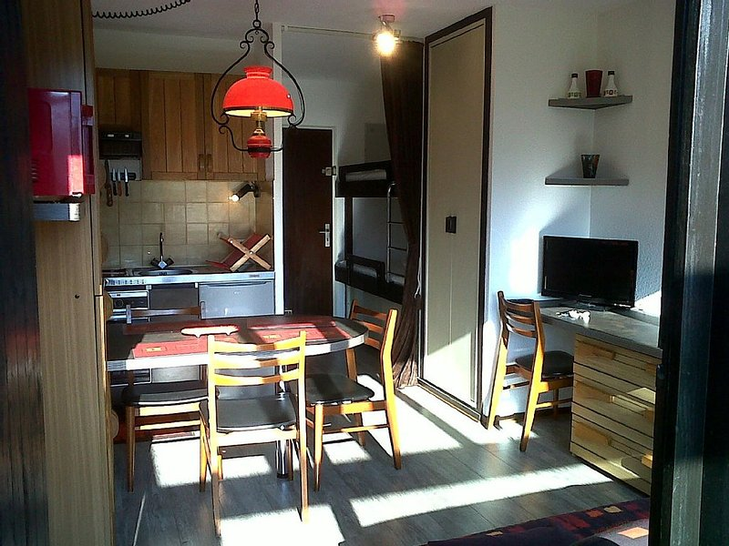 Studio with Terrace - Ski resort of Brasses, holiday rental in Megevette