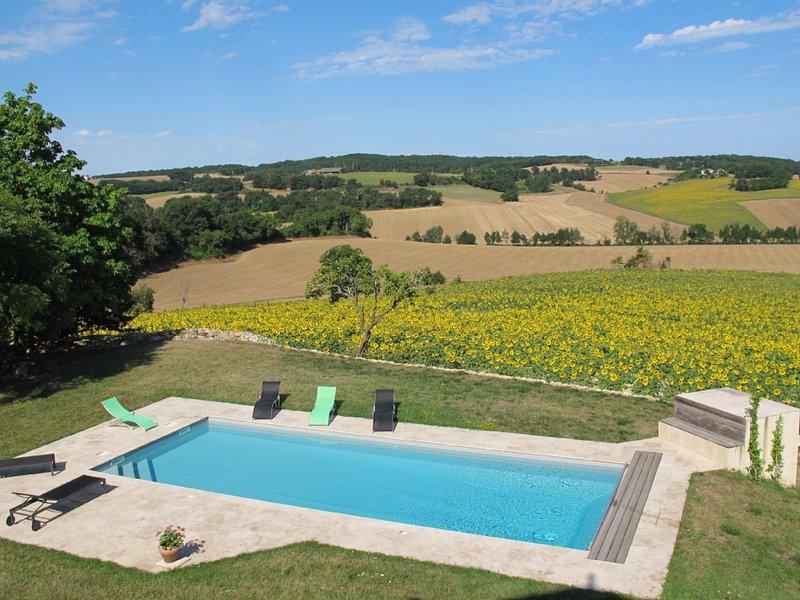espectaculares vistas desde la piscina y la terraza