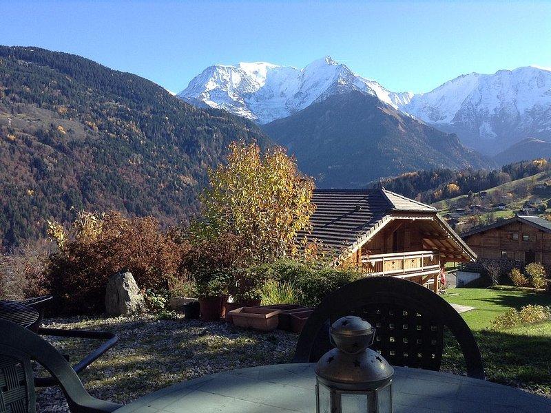 Bel appartement avec une vue  magnifique du Mont Blanc, location de vacances à Saint-Gervais-les-Bains