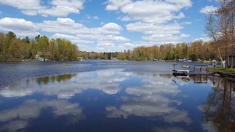 Getaway on Chute Pond! Pontoon Boat Available to rent. 2021 Sun-Sun Rental Only., casa vacanza a Lakewood