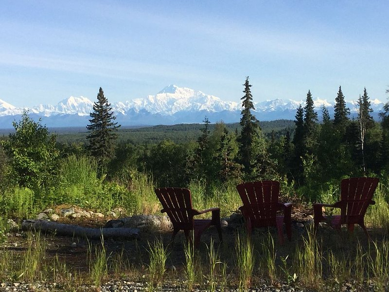 Talkeetna- private spot with full view of the Denali range, alquiler vacacional en Trapper Creek