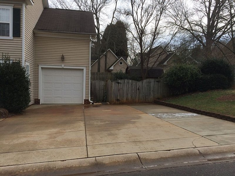 Triple wide, deep, flat driveway, parking for up to 3 guest cars
