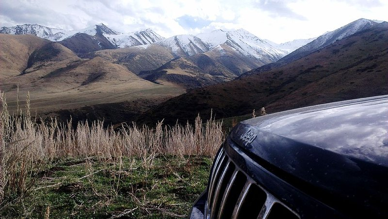 Jeep with camping equipment, vacation rental in Kyrgyzstan