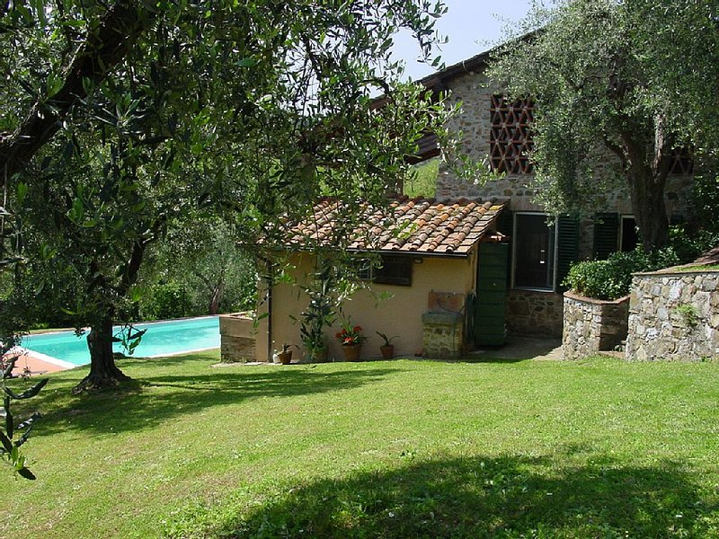 Stunning villa with Pool and view, on Lucca hills, holiday rental in Mastiano