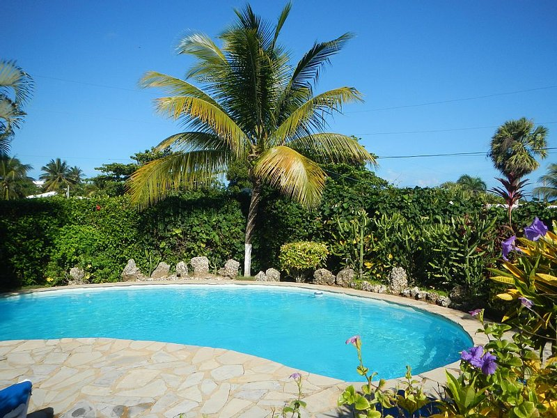 ...Tropical garden pool...at Cabarete  Vacation Villa...