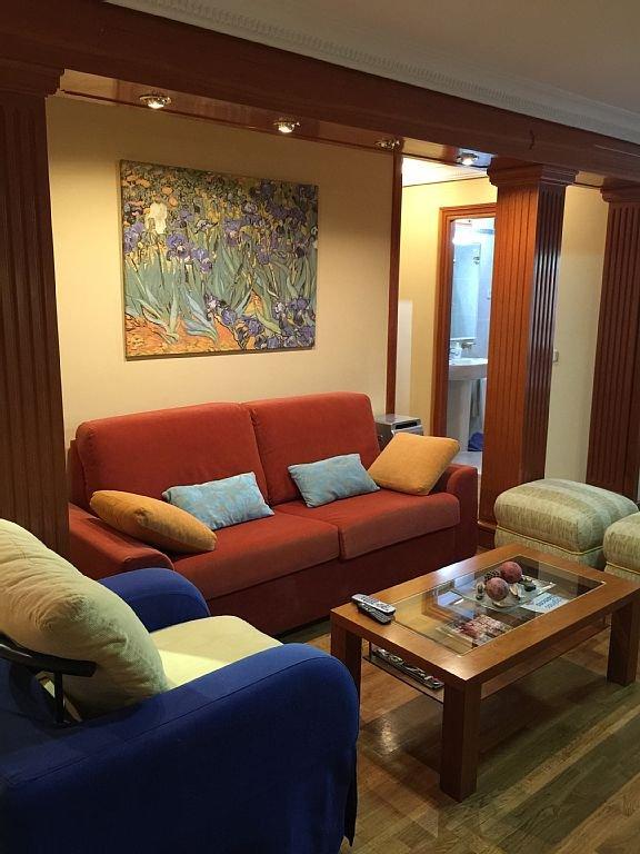 Vista Salón al Sofá cama de 150 cm ancho.