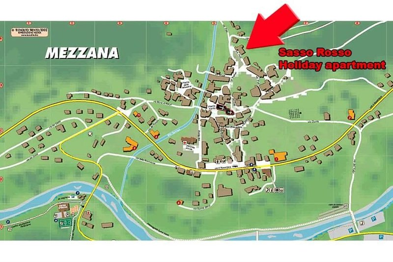 Sasso Rosso Mezzana - Mapa
