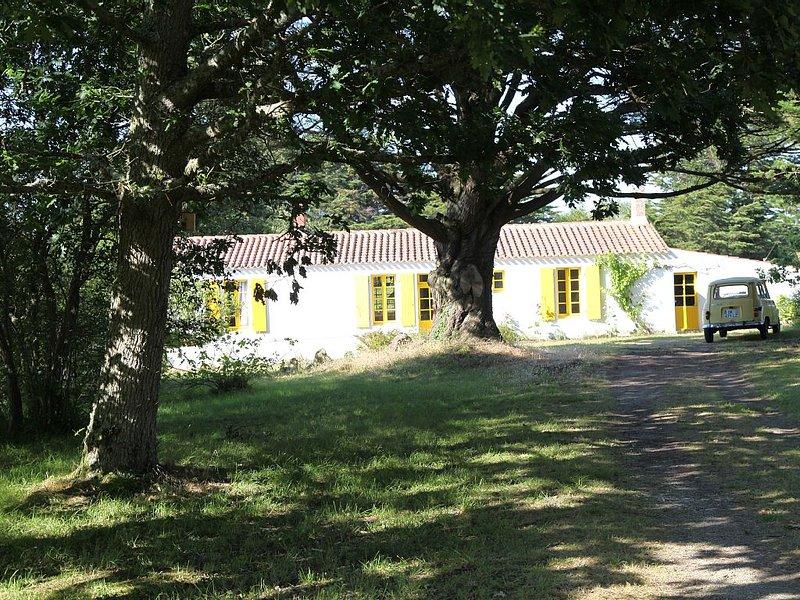Maison de charme grande et isolée dans un parc à la limite de la cote sauvage., vacation rental in Vendee