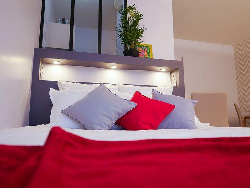 Studio Premium Toulouse Zénith - Parking,  Métro et Netflix, holiday rental in Toulouse