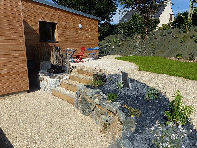 Ecomaison tout confort, à 2 pas du Val André (22370), adaptée aux handicaps, location de vacances à Morieux