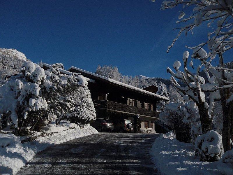 Appartement 4 couchages dans chalet savoyard, skis aux pieds, holiday rental in Vacheresse