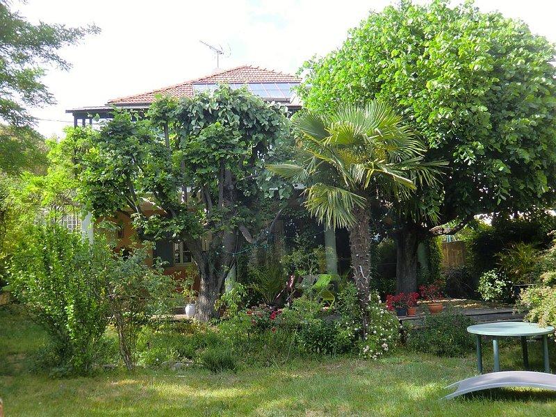 Belle et agréable maison de ville avec jardin  ombragé à Forcalquier, location de vacances à Niozelles
