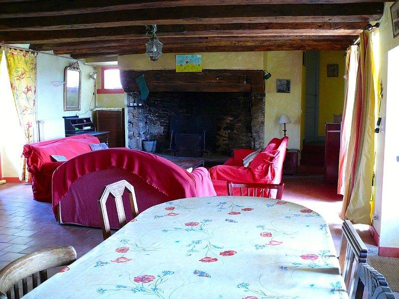 Gîte de charme grande capacité spacieux et confortable grand jardin exposé Sud, vacation rental in Chateau-Chervix