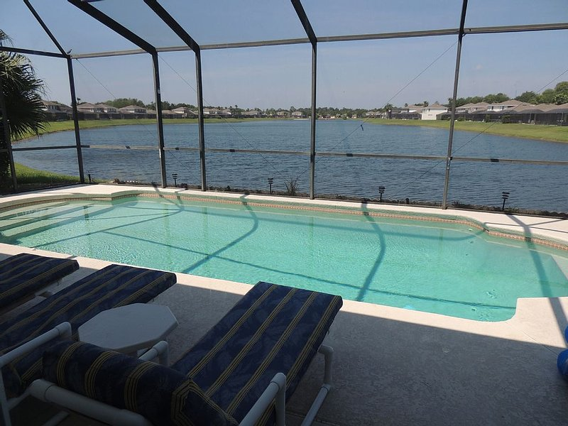 Disney Sunset Lakes Retreat 4 bd Home/Villa, Lake view, Free WiFi, Private Pool, location de vacances à Four Corners