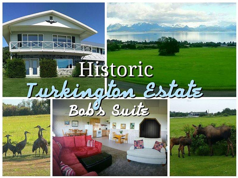 Historic Home - Private 28 Acres - 180° Ocean View! - Bob's Suite, location de vacances à Fritz Creek