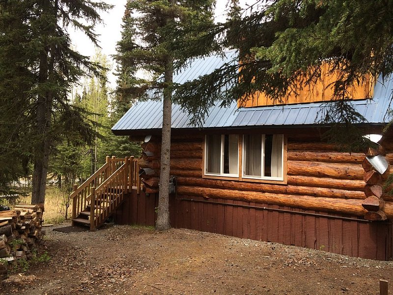 Log Cabin W Bedroom Loft, Seperate private Bath House and Boat House, aluguéis de temporada em Sterling