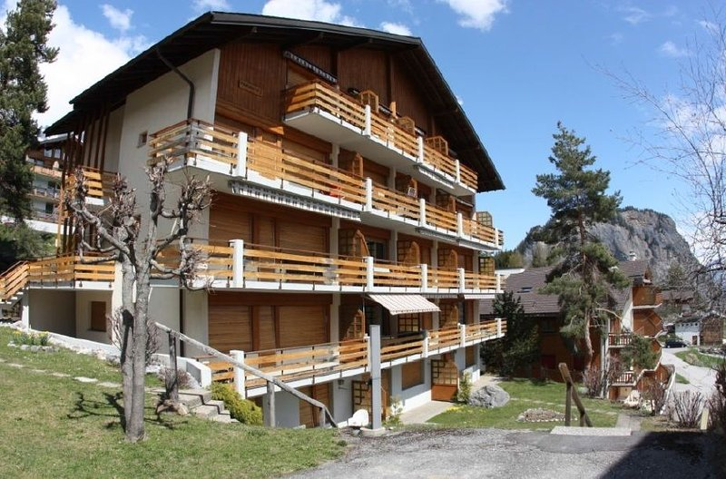 joli appartement de 3,5 pièces à Ovronnaz, holiday rental in Saillon