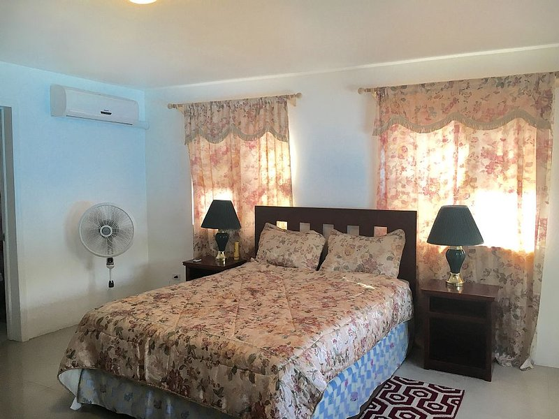 Master bedroom with A/C