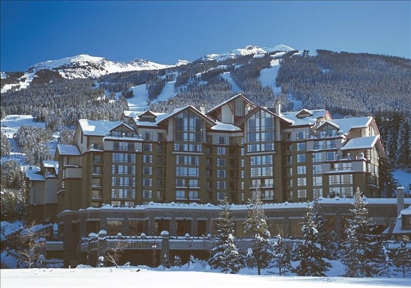 View of the Award Winning Westin with Blackcomb Mountain in the background