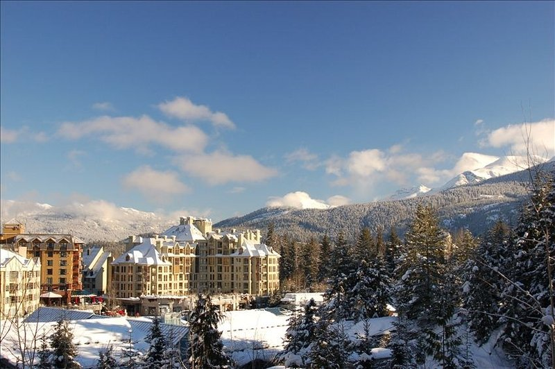 View of Whistler Village/slopes from our unit