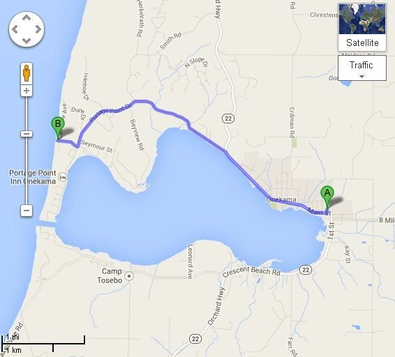 4 Miles from cottage to Lake Michigan Beach!