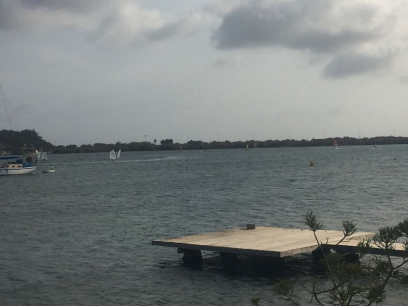 Windsurfing rentals and school just across the bay